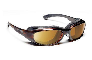 7eye 160642 Churada Rx Progressive Sunglasses Airshield Dark Tortoise Frames