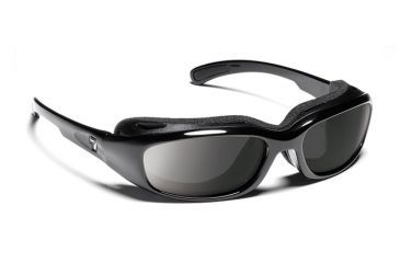 7eye 160541 Churada Rx Progressive Sunglasses Airshield Glossy Black Frames