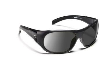 7eye 870146 Clay Single Vision Sunglasses Active Lifestyle Matte Black Frames