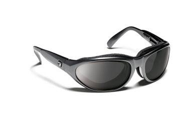 7eye 170341 Diablo Single Vision Sunglasses Airshield Charcoal Frames