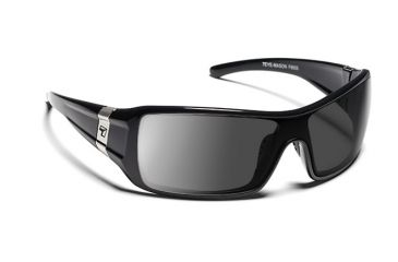 7eye 850644 Mason Single Vision Sunglasses Active Lifestyle Glossy Black Frames