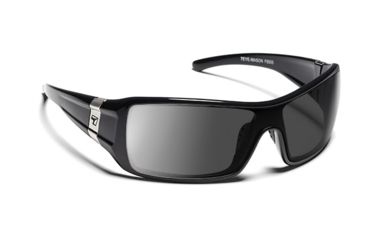 7eye 850546 Mason Single Vision Sunglasses Active Lifestyle Glossy Black w Bling Frames
