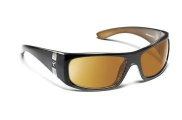 7eye 783344 Mens Shaka Single Vision Sunglasses Active Lifestyle Bronze Crystal Frames