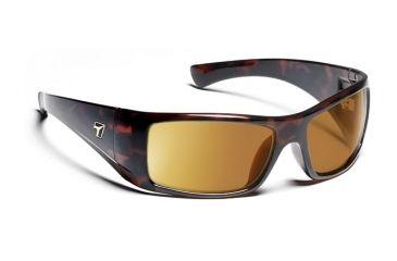 c09e759b6cb 7eye 810644 Mens Shaun Single Vision Sunglasses Active Lifestyle Dark  Tortoise Frames