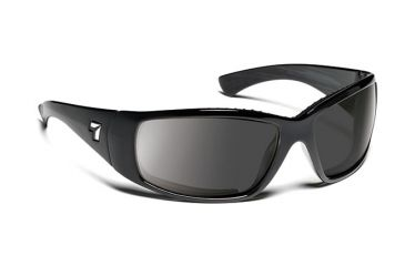 7eye 570541 Mens Taku Single Vision Sunglasses Airdam Glossy Black Frames