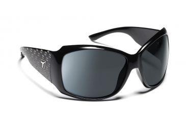 1207a5e5f22 7eye 840546 Natasha Prescription Single Vision Sunglasses Active Lifestyle  Glossy Black w Bling Frames