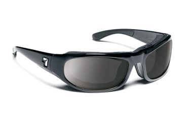7eye 120541 Whirlwind Single Vision Sunglasses Airshield Glossy Black Frames