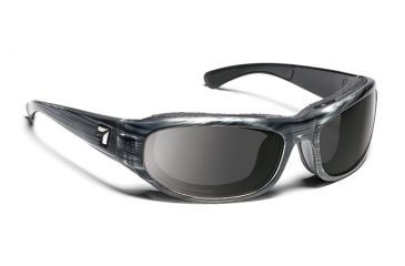 7eye 123741 Whirlwind Single Vision Sunglasses Airshield Gray Tortoise Frames