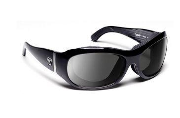 7eye 310541 Womens Briza Rx Progressive Sunglasses Airshield Glossy Black Frames