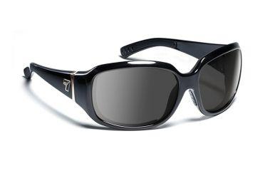 7eye 580541 Womens Mistral Rx Progressive Sunglasses Airdam Glossy Black Frames