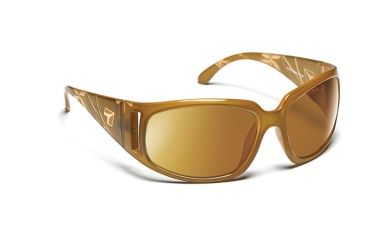 7eye 774644 Womens Tina Rx Progressive Sunglasses Active Lifestyle Etched Taupe Crystal Frames