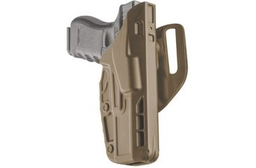 7TS ALS Mid Ride Duty Holster, Brown 7390-83-551