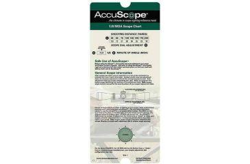 AccuScope Scope Charts Green - 1/ 8 MOA