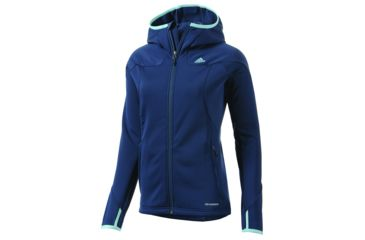 new product a38a9 78f44 Adidas Outdoor Hiking Trekking One Sided Fleece Hoodie - Women s-Sub Blue-X