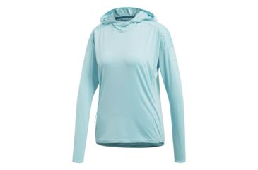 wholesale dealer a4a26 ee01e Adidas Outdoor Voyager Parley Womens Hoodie, Blue Spirit, Large, CG2452-L