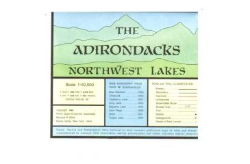 Adirondack Map Northwest Lakes, Adirondack Maps Inc, Publisher - Adirondack Maps