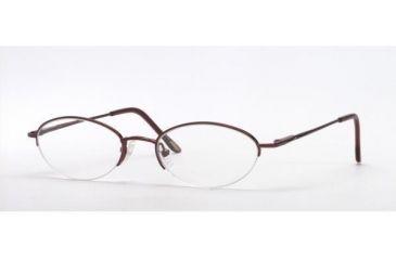 Adrienne Vittadini AV6008-158-4718 Eyeglasses with No-Line Progressive Rx Prescription Lenses 47 mm Lense Diameter / Espresso Frame