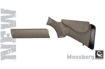 Advanced Technology Mossberg Akita Adjustable Stock & Forend w/ Cheekrest & Scorpion Recoil Pad, Desert Tan A1201250