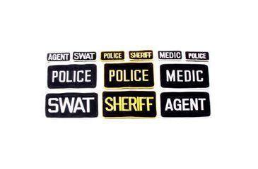 BlackHawk Agent Patch w/Velcro 2 X 4 (1047) White on Black ''Agent'' 90AP00BK for Police, LE, FBI, CIA Agents