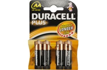 Aim Point Duracell Plus AA/LR6 Battery, 4 pack