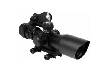 AIM Sports Inc CQB Combo 3-9x40 Scope and Red Dot, Red Dot-QRM-Rangefinder JSRMC01-R