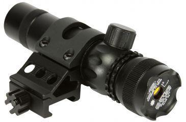 AIM Sports Inc Pistol/Rifle Green Laser Sight, Black, Small, LG001, Offset Mount LG005