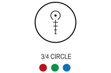 AIM Sports Inc Recon Series 1.5-4x30 Tri Illuminated CQB Scope w/ Locking Turrets/3/4 Circle Reticle JTHR1