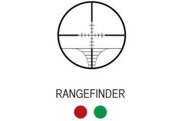 AIM Sports Inc XPF Series 3-12x50 Dual Illuminated Rifle Scope w/Side Parallex/Rangefinder JXPFR31250G