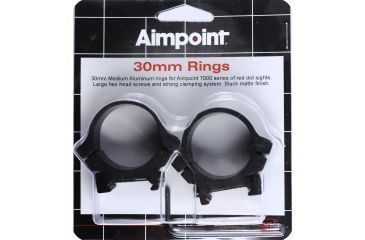 AimPoint 30mm Riflescope Ring, Black 12229