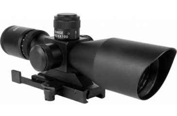 AimSports 2.5-10X40 Dual Ill. Scope /QRM/Rangefinder, Black JTSDR251040G