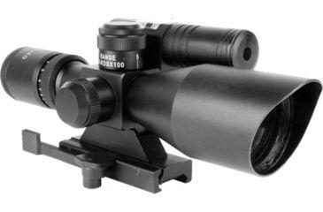 AimSports 2.5-10X40 Dual Ill. Scope /Duplex Reticle, Black JDG251040G