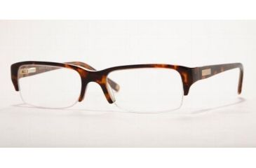 AK Anne Klein AK8075-178-5217 Eyeglasses with Non-Rx Lenses 52 mm Lense Diameter / TORTOISE/HONEY Frame w/Non-Rx Lenses