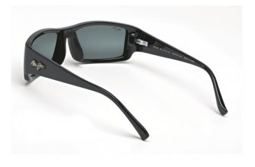 Maui Jim Akamai Sunglasses w/ Gloss Black Frame and Neutral Grey Lenses - 212-02, Back View