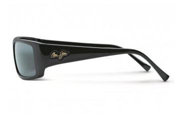 Maui Jim Akamai Sunglasses w/ Gloss Black Frame and Neutral Grey Lenses - 212-02, Side View