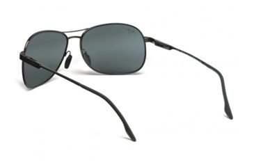 Maui Jim Akoni Sunglasses w/ Gunmetal Frame and Neutral Grey Lenses - 117-02, Back View