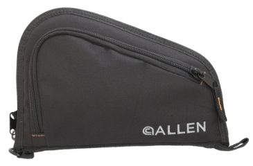 Allen Auto-Fit Compact Semi-Auto Handgun Case Measures 9x6 Inches Fits Guns Up To 4 Inch Barrels And Compact Grips Black
