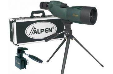 Alpen 15-45x60 Waterproof Compact Spotting Scope, Tripod Car Window Mount, Travel Case 725KIT