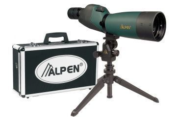 Alpen 20-60x80 Waterproof Straight Spotting Scope w/ Micro Adjust Tripod 786KIT