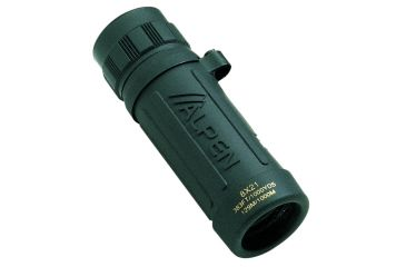 ALPEN Sport 8x21 Compact Rubber Armored Roof Prism Monocular, Green w/ Strap 116