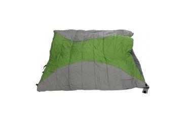 Alps Mountaineering Twin Peak Plus-20 degree Sleeping Bag, Green/Grey, 120 oz. of Fill, 68 in. x 80 in., Rectangle-Shaped 187012