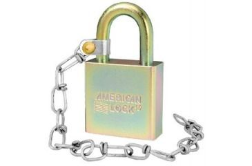 "American Lock A5200GL Government Padlock w/ 9"" chain 903321"