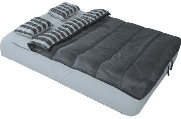 American Trails 6 Piece Queen Airbed Bedding Set, Black/Gray, NA AT-ASP3380