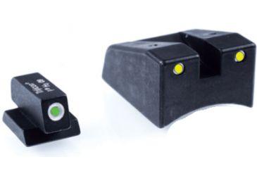 Ameriglo Mossberg 3 Dot Tritium Night Sight Set - Green Front / Green Rear MB-590