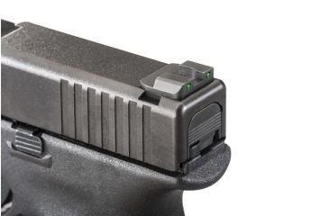 Ameriglo Night Sights - Pro Series Style - Green REAR Only, Fits Glocks 17,19,22,23,24,26,27,33,34,35,37,38,39 GL-227R