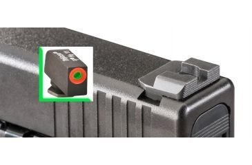 Ameriglo Night Sight Set, Spec. Combo, Hack - Green/Orange Front, Serr. Black Rear - Glocks 17/19/22 GL-433