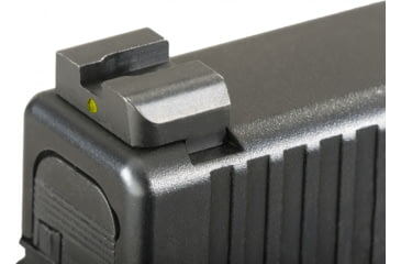 Ameriglo Night Sights - Classic Style - Yellow REAR Only - .256 inch Height, Fits Glocks 17,19,22,23,24,26,27,33,34,35,37,38,39 GL-115R