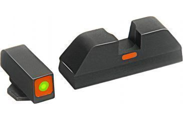 AmeriGlo Painted Rear Sight .272in. Height, Orange line, .155in. notch GL-616OR
