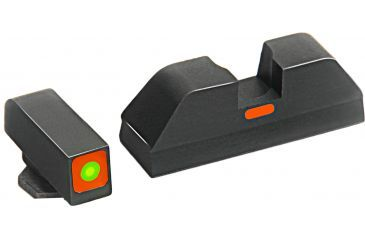 AmeriGlo Painted Rear Sight .287in. Height, Orange line, .155in. notch GL-617OR