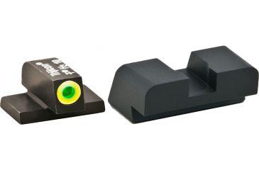 AmeriGlo Tritium Black Serrated All XD Models, ProGlo LumiLime Front, Black Rear XD-533