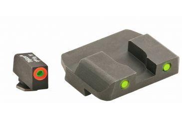 AmeriGlo Tritium Front Tritium Rear Glock 20,21,29,30,31,32,36 ProGlo, Orange Circle Front and Pro Op Rear, yellow GL-449